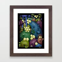 Crowded Aliens Framed Art Print