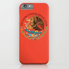 Close up of the Seal from the National flag of Mexico on Adobe red background Slim Case iPhone 6s