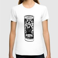 Burn Ur Icons Womens Fitted Tee White SMALL