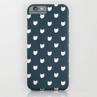 Navy Cats Pattern iPhone 6 Slim Case