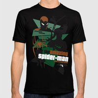 Amazing Spider-man Poster Mens Fitted Tee Black SMALL