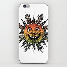 sun face - rasta iPhone & iPod Skin