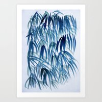 blue breeze Art Print