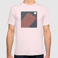 Moon Rays Mens Fitted Tee Light Pink SMALL