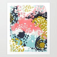 Athena - Abstract, Pink,… Art Print