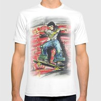 Bust a Move Mens Fitted Tee White SMALL