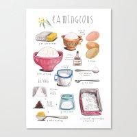 illustrated recipes: lamingtons Canvas Print