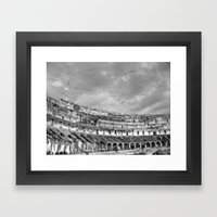 Inside Of The Colosseum Framed Art Print