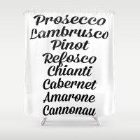 Italian wines Shower Curtain