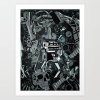 The heart of the machine Art Print