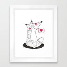 I love you. Framed Art Print