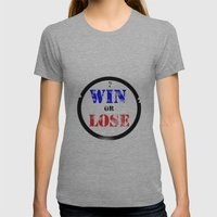 WIN OR LOSE? Womens Fitted Tee Athletic Grey SMALL
