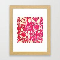 Electric Flower Framed Art Print