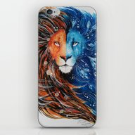 Fire And Ice Lion iPhone & iPod Skin