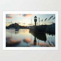 Hull Marina at Sunset Art Print
