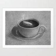 Whale In A Tea Cup  Art Print