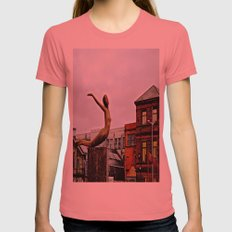 She Flies Across Belfast Womens Fitted Tee Pomegranate SMALL