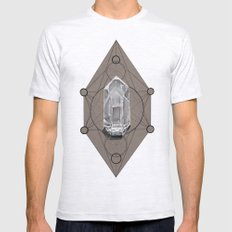 Sacred Geometry  Mens Fitted Tee Ash Grey SMALL