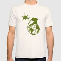 Earth Grenade Mens Fitted Tee Natural SMALL