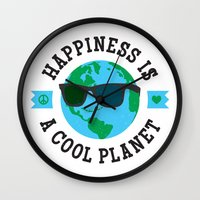 Happiness Is A Cool Plan… Wall Clock