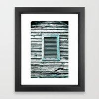 Single Window Framed Art Print