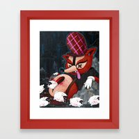 Out Foxed Print~! Framed Art Print