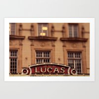 The Lucas Theater Savann… Art Print