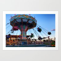 Fun At The County Fair Art Print