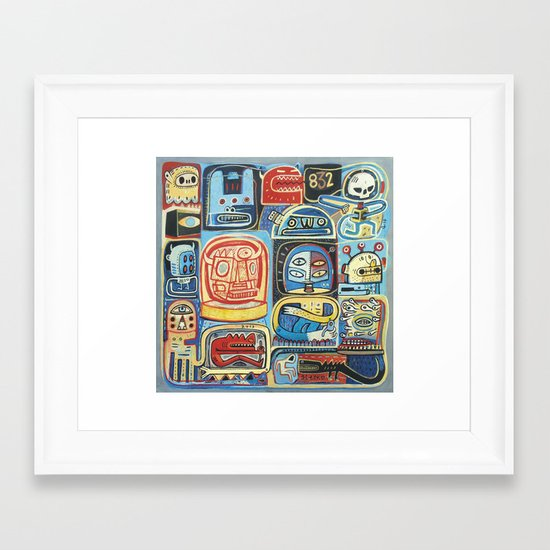Démon 832 Framed Art Print