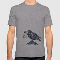 World Traveler Mens Fitted Tee Athletic Grey SMALL