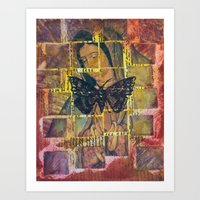 Mother Mary And The Moth Art Print