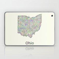 Ohio map Laptop & iPad Skin