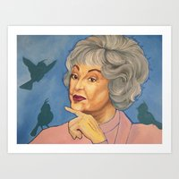Bea and the Birds Art Print