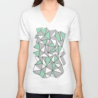 Abstraction Lines With M… Unisex V-Neck