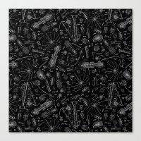 Parasol Charcoal Canvas Print
