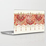 Royal Red Art Deco Doubl… Laptop & iPad Skin