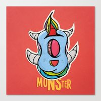 Cute Monster Canvas Print