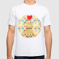 Love Is All You Need Mens Fitted Tee Ash Grey SMALL