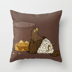 Thirsty Grouse - Colored! Throw Pillow