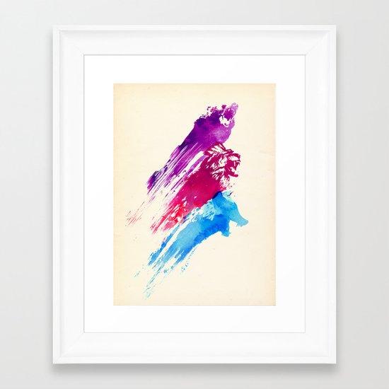 Wild colours Framed Art Print