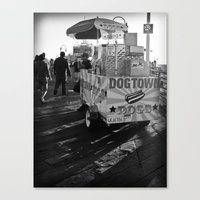 Dogtown Dogs Canvas Print