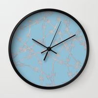 Trapped Ice Blue Wall Clock