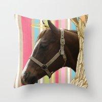 Holy Horse Throw Pillow