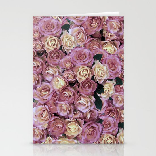 Bed of Roses Stationery Card