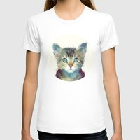 cats T-shirts featuring Cat // Aware by Amy Hamilton