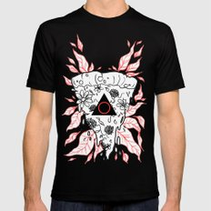 Flower Pizza Mens Fitted Tee Black SMALL