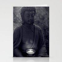 Buddha in the dark Stationery Cards