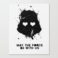 may the force be with us Canvas Print