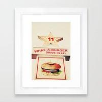 What A Burger Framed Art Print