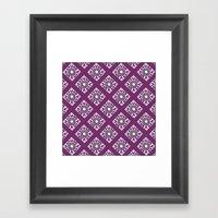 Purple Diamond Tiles Framed Art Print